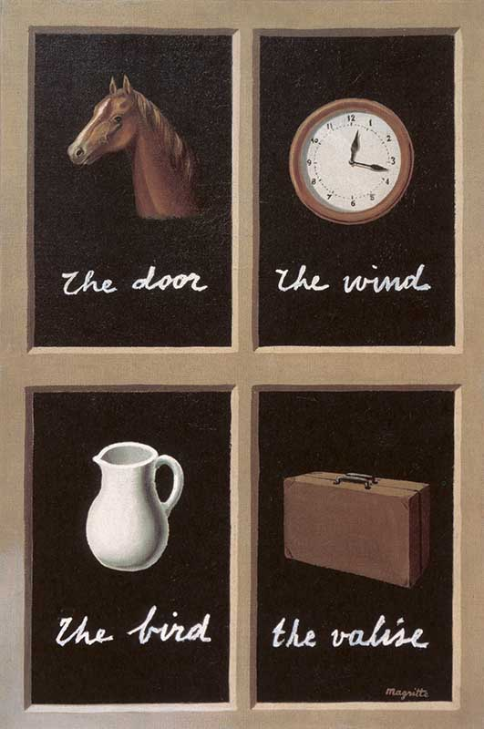 The Key of Dreams by Rene Magritte, 1898-1967, private collection