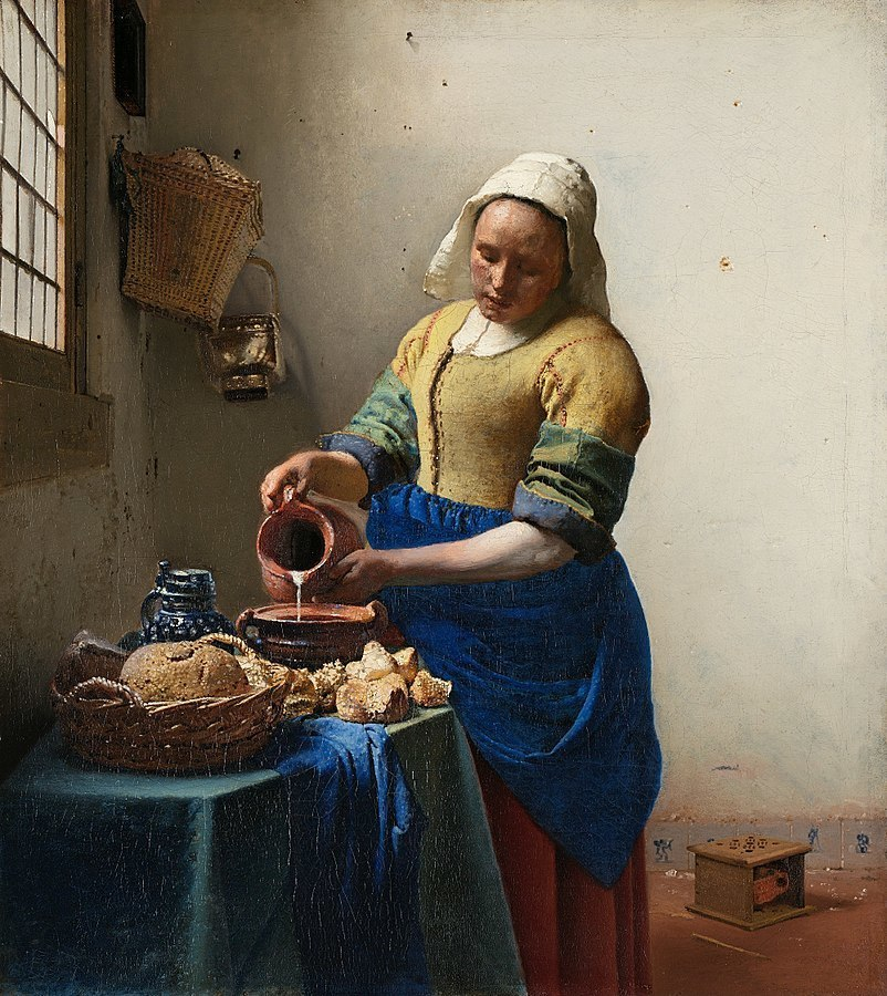 Woman Pouring Milk by Jan Vermeer, 1632-75, Rijksmuseum, Amsterdam