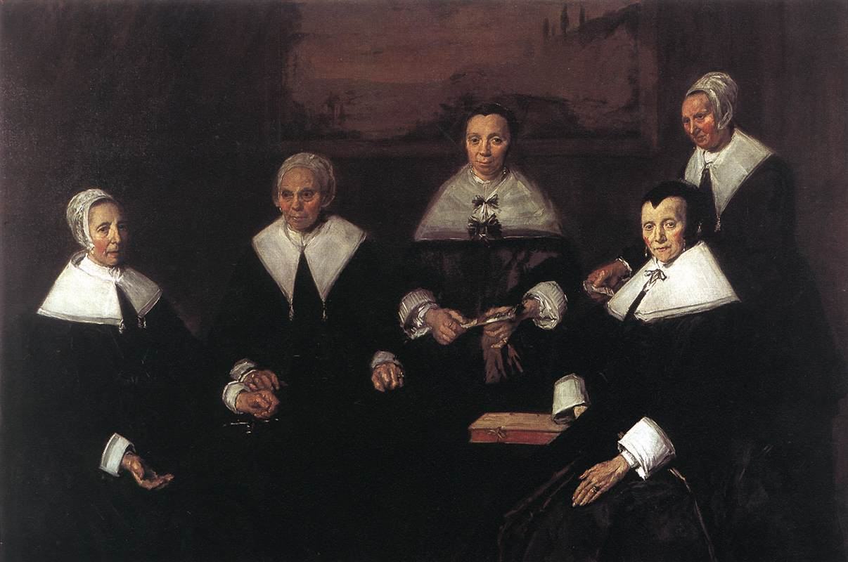 Regentesses of the Old Men's Alms House by Frans Hals, 1580-1666, Frans Hals Museum, Haarlem