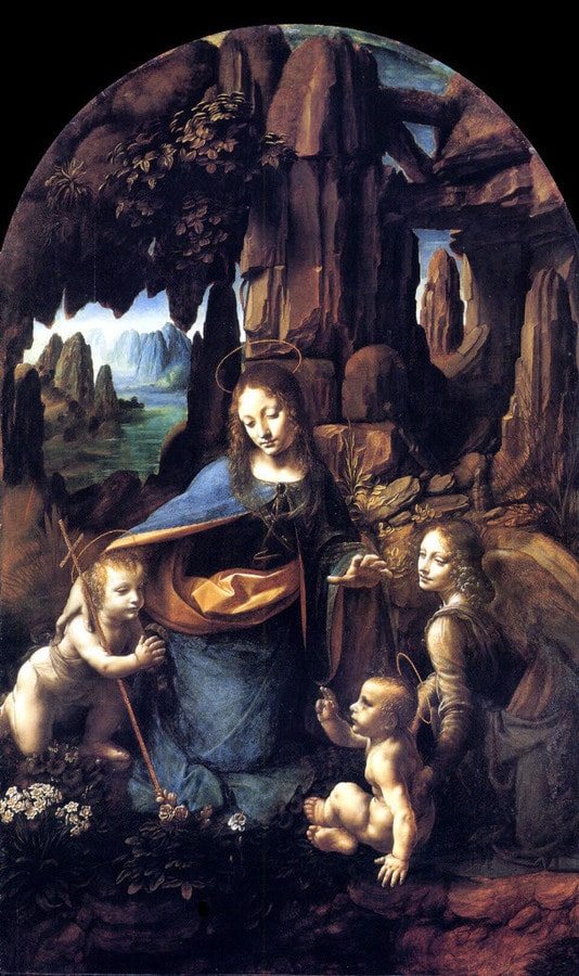 Virgin of the Rocks by Leonardo da Vinci, 1452-1519, National Gallery, London