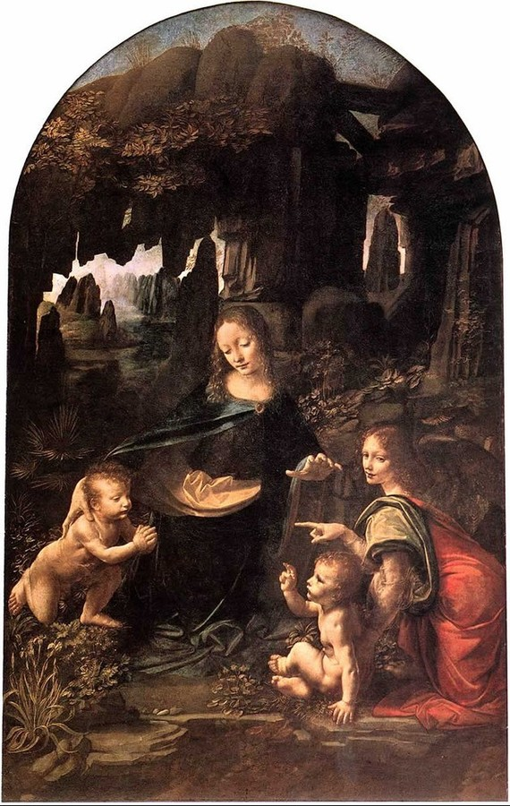 Virgin of the Rocks by Leonardo da Vinci, 1452-1519, Louvre, Paris