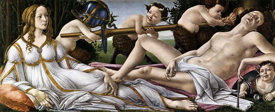 Venus and Mars by Sandro Botticelli, 1445-1510, National Gallery, London