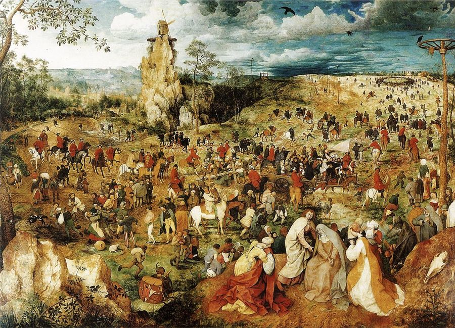 The Procession to Calvary by Pieter Breughel the Elder, 1525-69, Kunsthistorisches Museum, Vienna