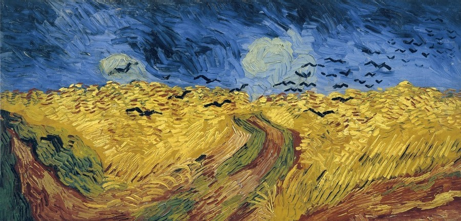 Wheatfield with Crows by Vincent van Gogh, 1853-90, Stedelijk Museum, Amsterdam