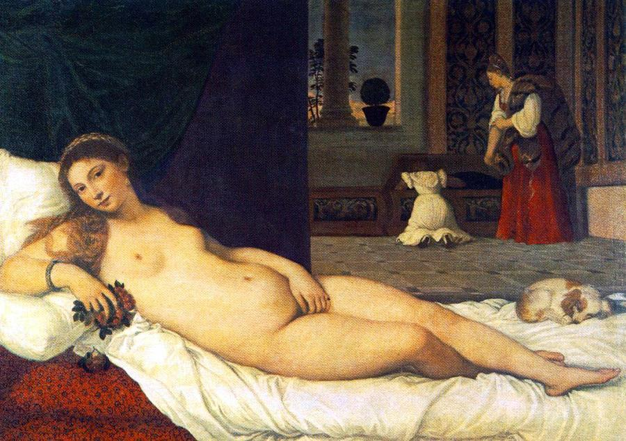 The Venus of Urbino by Titian, 1487/90-1576, Uffizi, Florence