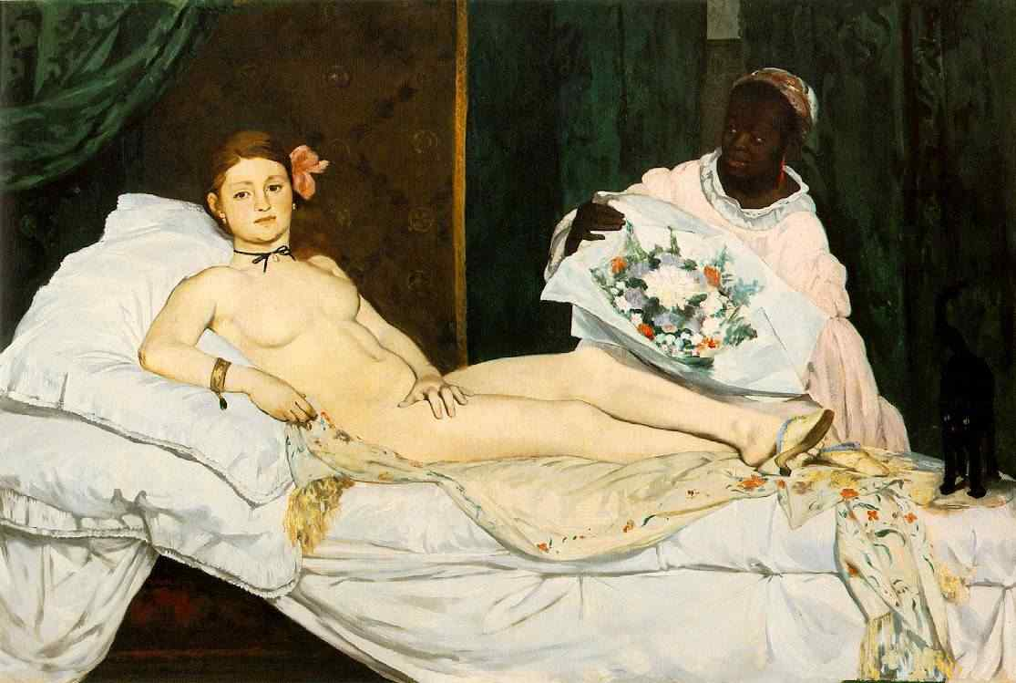 Olympia by Edouard Manet, 1832—83, Louvre, Paris