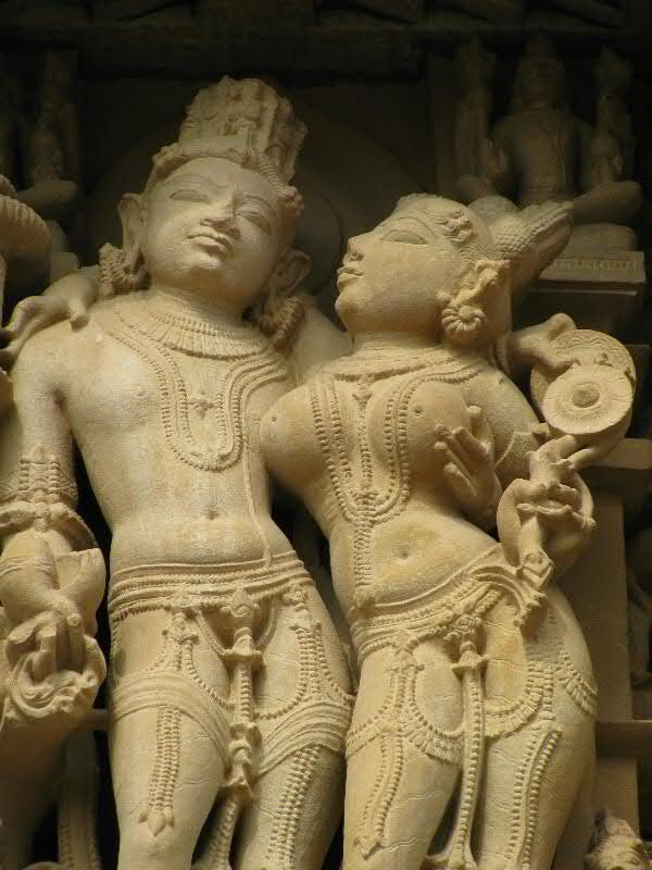 Vishnu and Lakshmi, 11th century, Parsavanatha Temple, Khajuraho