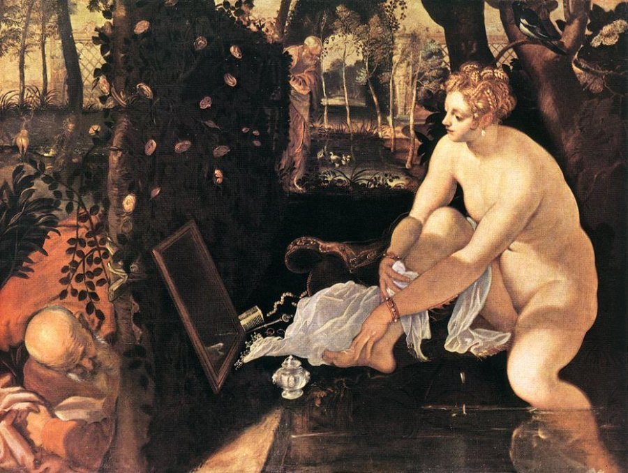 Susannah and the Elders by Jacopo Tintoretto, 1518-94, Kunsthistorisches Museum, Vienna