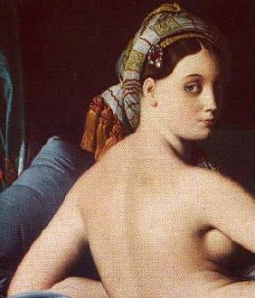 La Grande Odalisque by J. A. D. Ingres, 1780-1867, Louvre, Paris (detail)