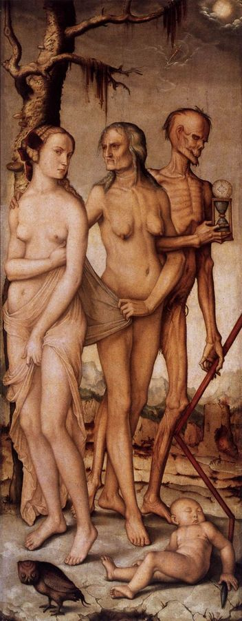 Three Ages of Woman by Hans Baldung Grien, 1483-1545, Prado, Madrid