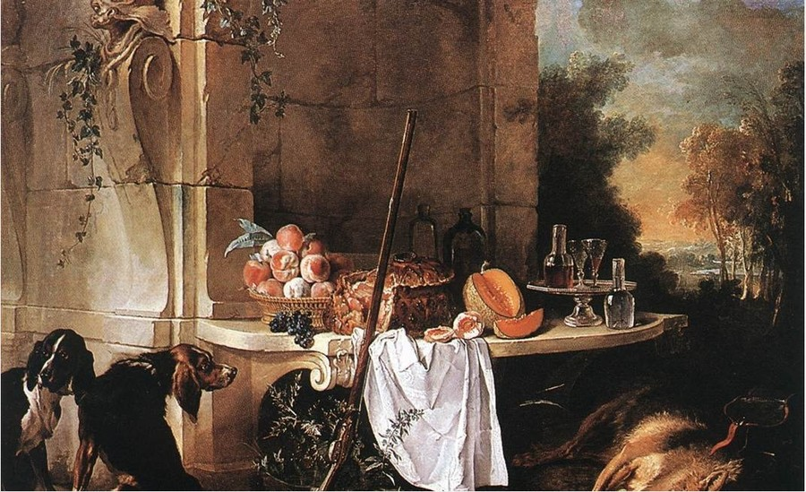 Still Life by Jean Baptiste Oudry, 1686-1755, Wallace Collection, London