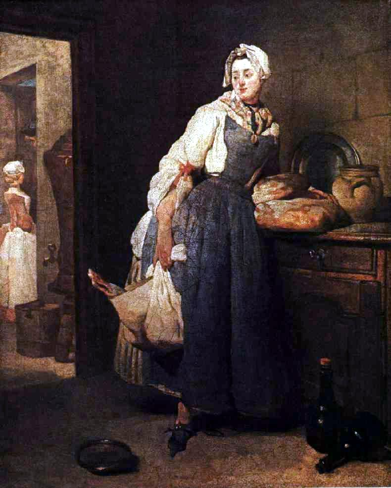 Woman in Kitchen by Pierre Chardin, 1699-1779
