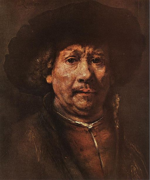 Self-Portrait by Rembrandt van Ryn, 1606-69