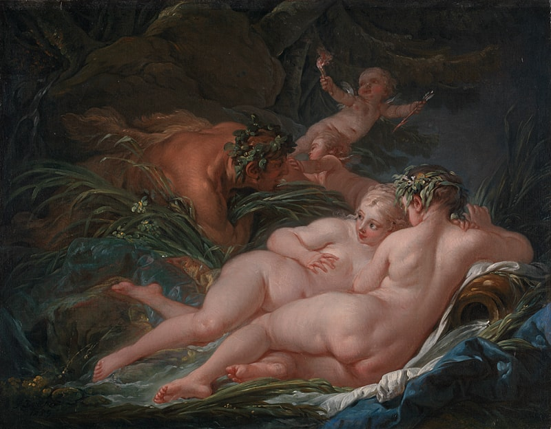 Pan and Syrinx by Boucher, 1703-70, National Gallery, London
