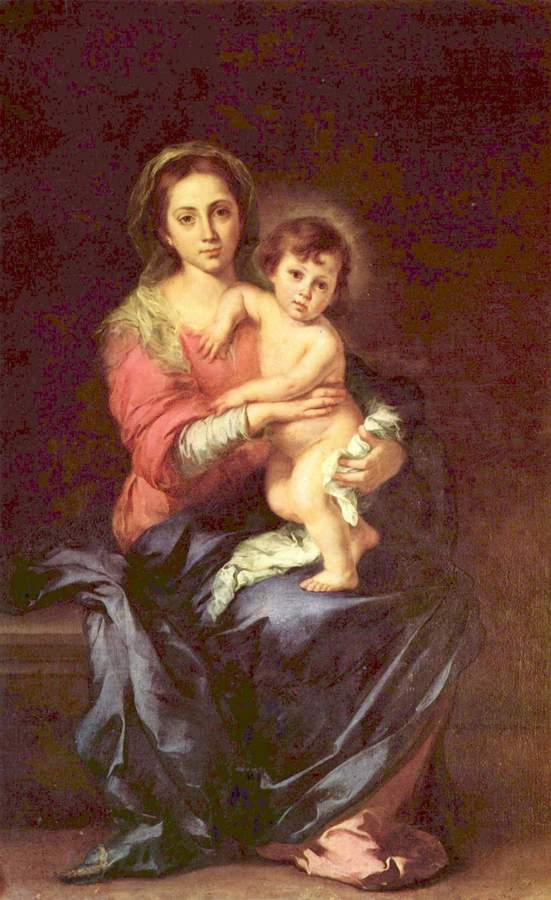 Virgin and Child by Murillo, 1617-82, Pitti Palace, Florence