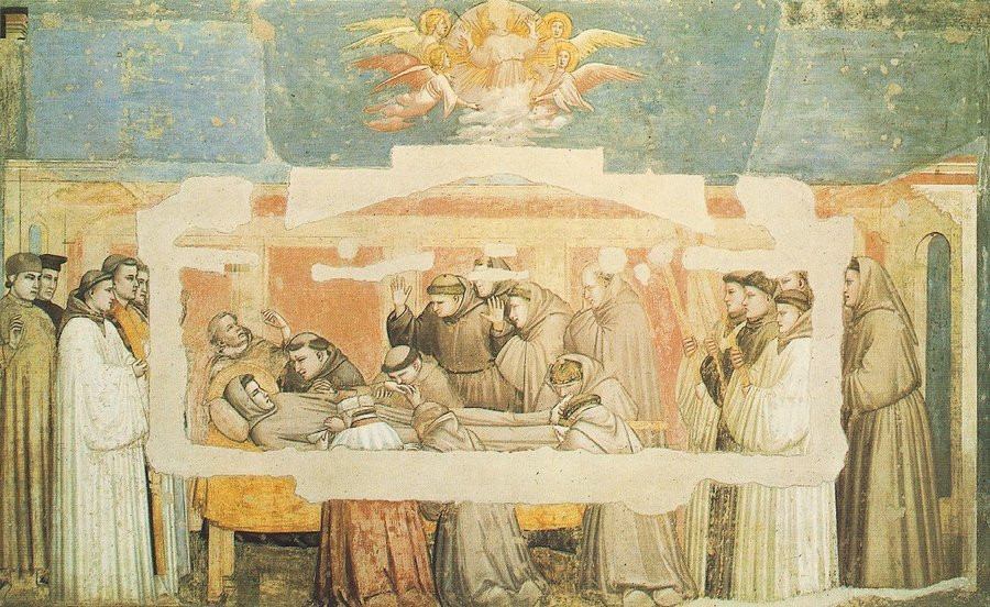 Death of St Francis by Giotto, 1266/7-1337, Sta Croce, Florence