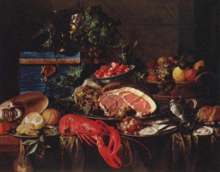 Still Life with Lobster by Jan de Heem, 1606-84, Wallace collection, London