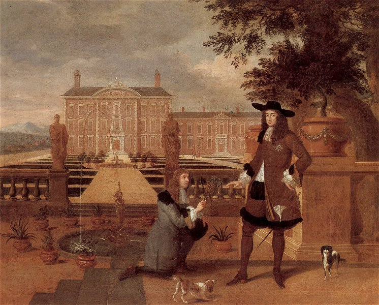 Charles II Being Presented with a Pineapple by Rose, the Royal Gardener after Hendrick Danckerts, c. 1630-78/9, Ham House, Richmond