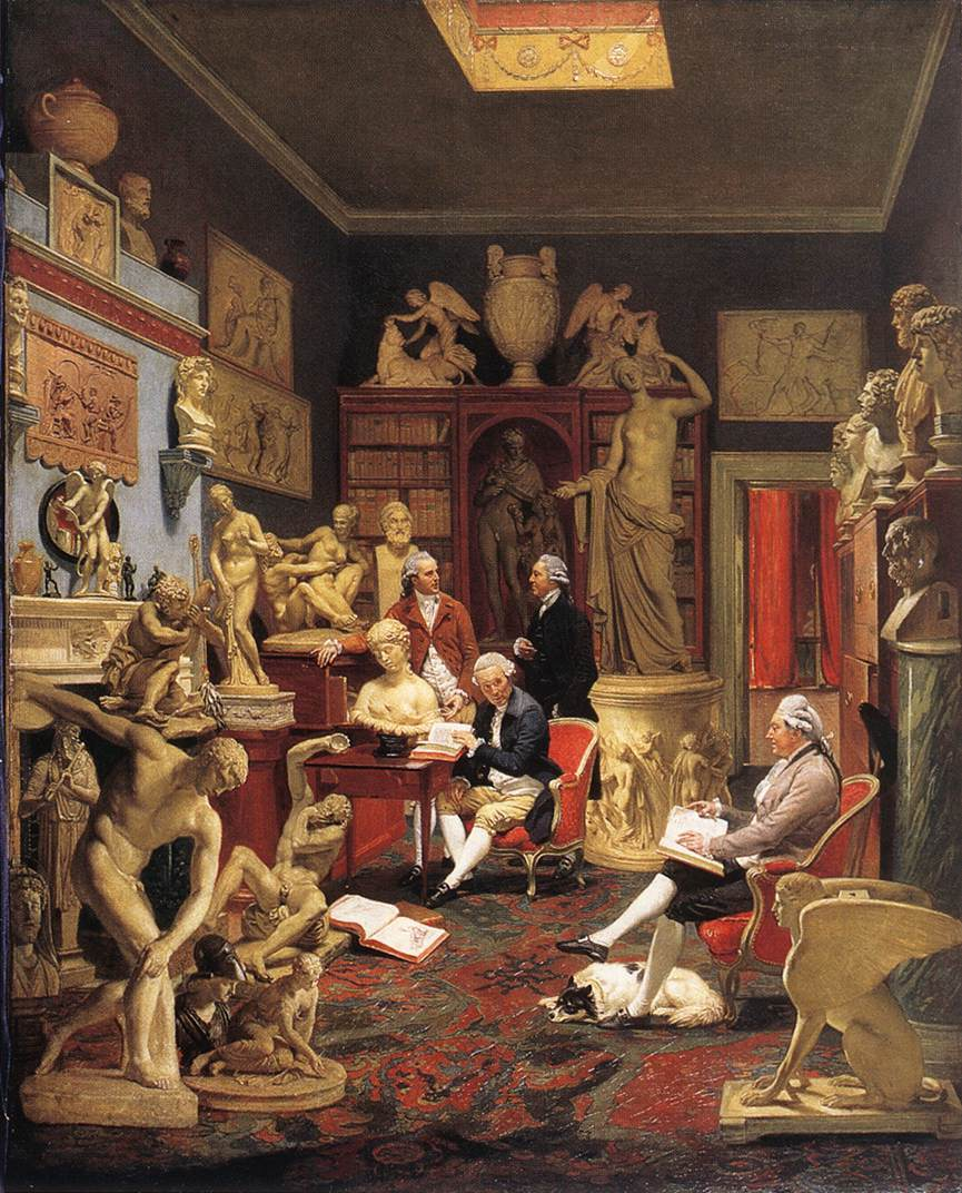 Mr Towneley and Friends by Johann Zoffany, 1734/5—1810, Towneley Hall Art Gallery and Museum, Burnley, Lancashire