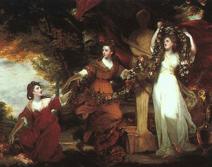 Three Graces Decorating Hymen by Sir Joshua Reynolds, 1723-92, Tate Gallery, London