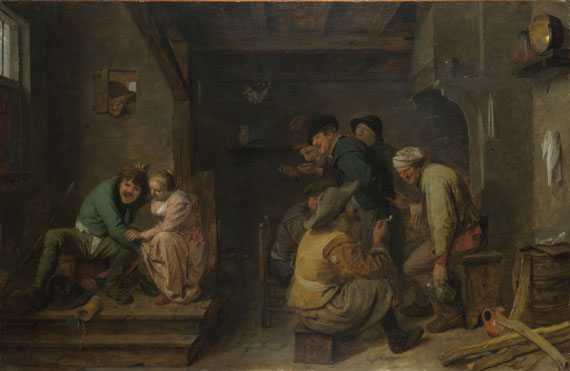 Tavern Scene by Adriaen Brouwer, 1605/6—38, National Gallery, London