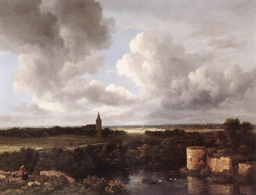 An Extensive Landscape with Ruins by Jacob van Ruisdael, 1628/9-82, National Gallery, London
