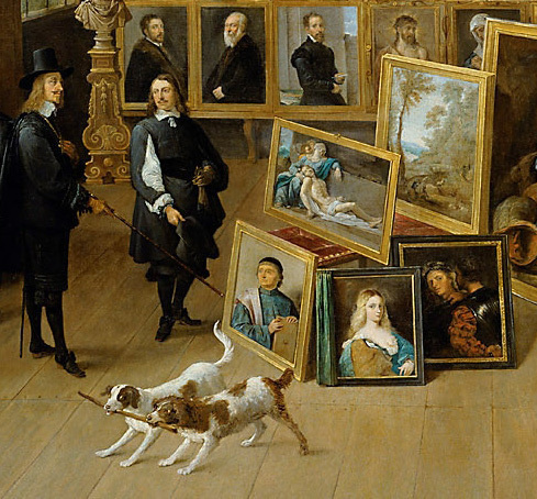 The Archduke Leopold Wilhelm in His Private Picture Gallery by David I. Teniers, 1582-1649, Kunsthistorisches Museum, Vienna
