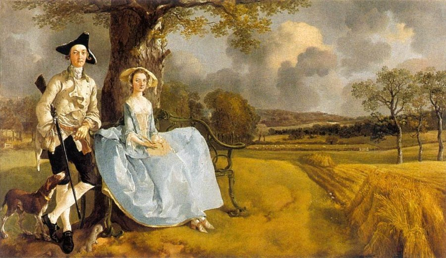 Mr and Mrs Andrews by Thomas Gainsborough, 1727-88, National Gallery, London