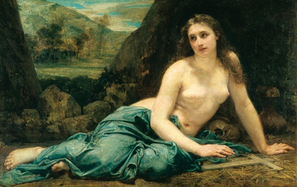 The Penitent Magdalen by Baudry, Salon of 1859, Musee des Beaux-Arts, Nantes