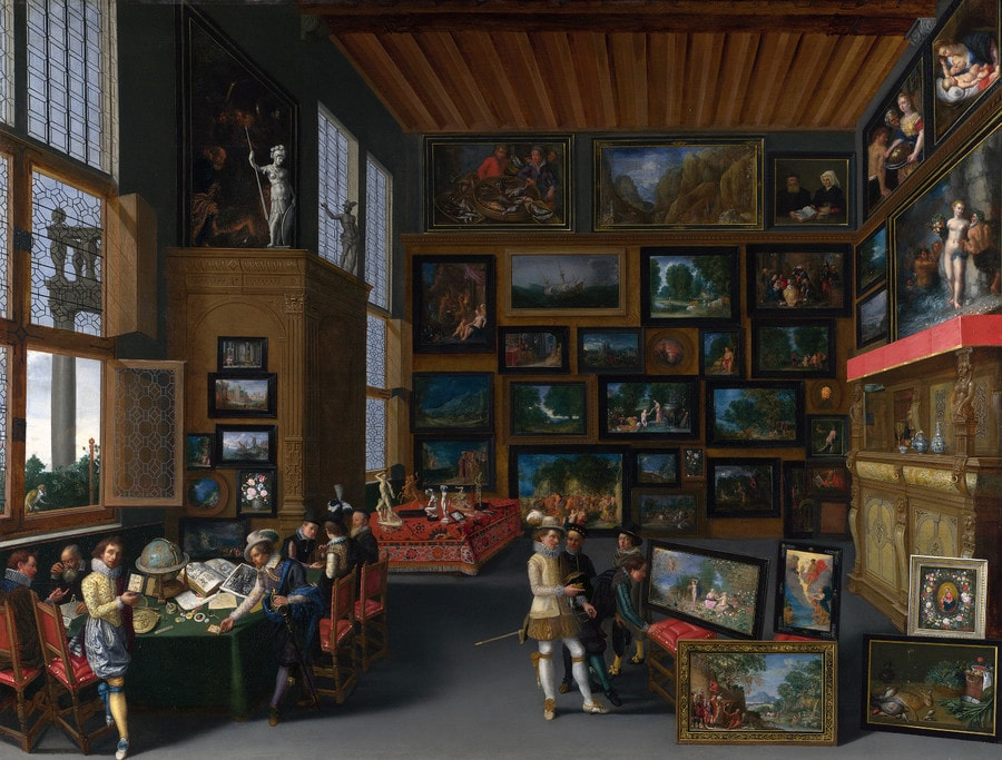 Interior of an Art Gallery, Flemish, 17th century, National Gallery, London