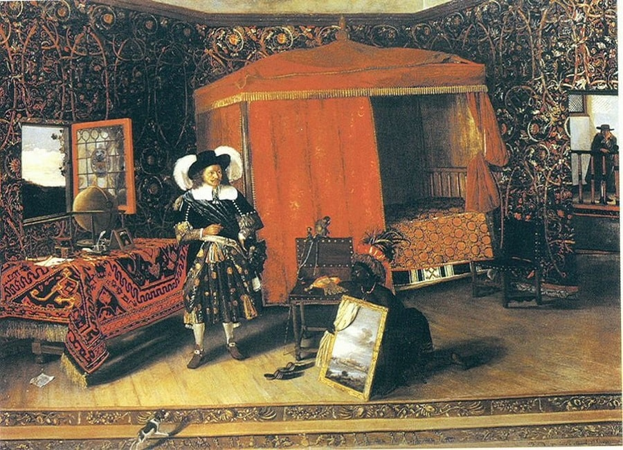 Admiral de Ruyter in the Castle of Elmina by Emanuel de Witte, 1617-92, collection, Dowager Lady Harlech, London