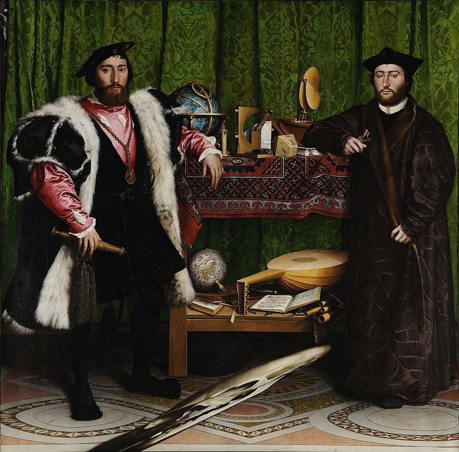 The Ambassadors by Hans Holbein the Younger, 1497/8-1543, National Gallery, London