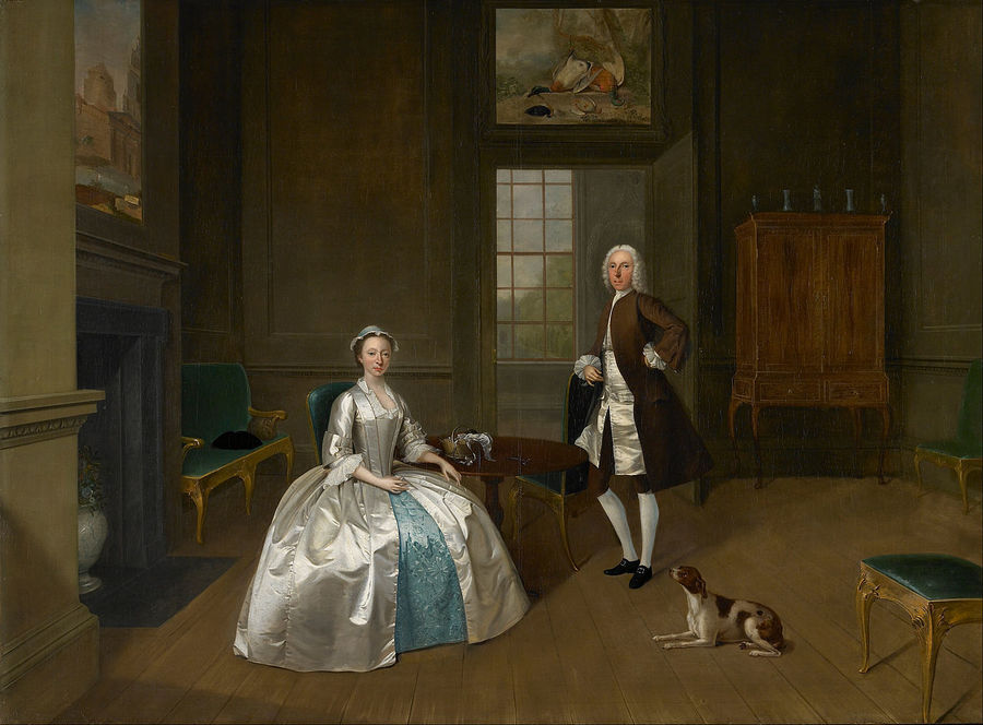 Mr and Mrs William Atherton by Arthur Devis, 1711-87, Walker Art Gallery, Liverpool