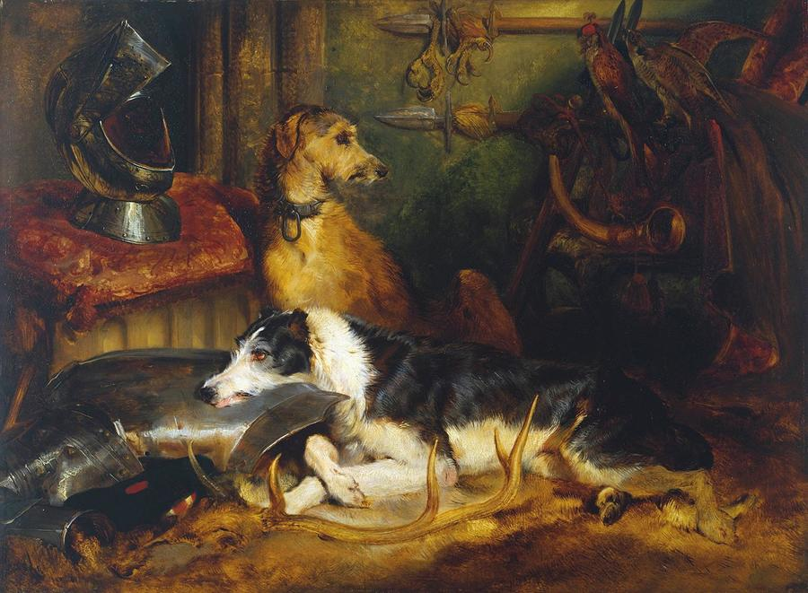 A Scene at Abbotsford by Sir Edwin Landseer, 1802-73, Tate Gallery, London