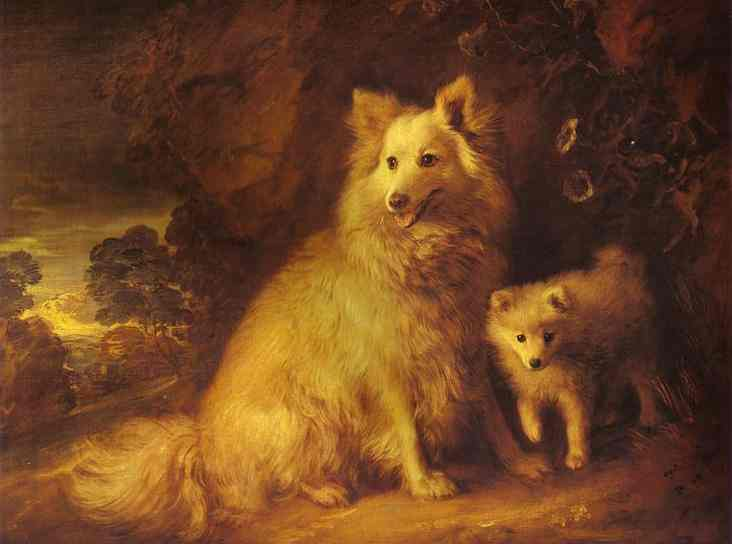 White Dogs by Thomas Gainsborough, 1727-88, National Gallery, London