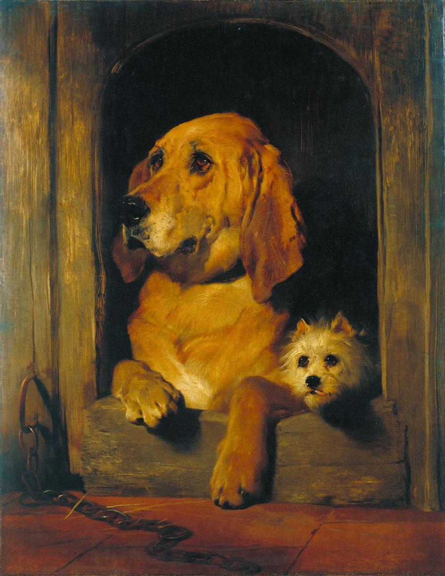 Dignity and Impudence by Sir Edwin Landseer, 1802-73, Tate Gallery, London
