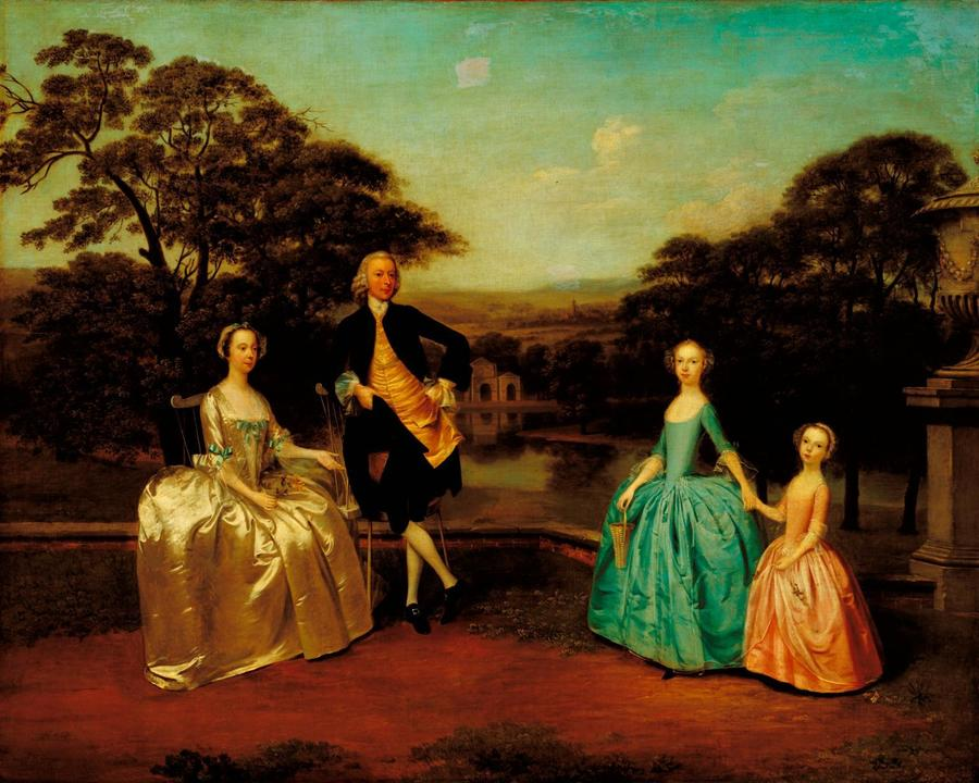 The James Family by Arthur Devis, 1711 -8 7 , Tate Gallery, London