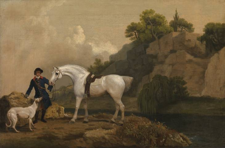A Grey Hack with a White Greyhound and Blue Groom by George Stubbs, 1724-1806, Tate Gallery, London