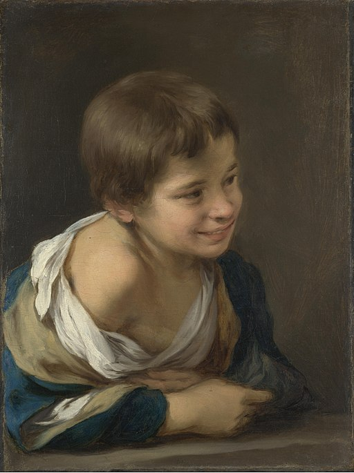 Peasant Boy Leaning on Sill by Bartolome Murillo, 1617-82, National Gallery, London