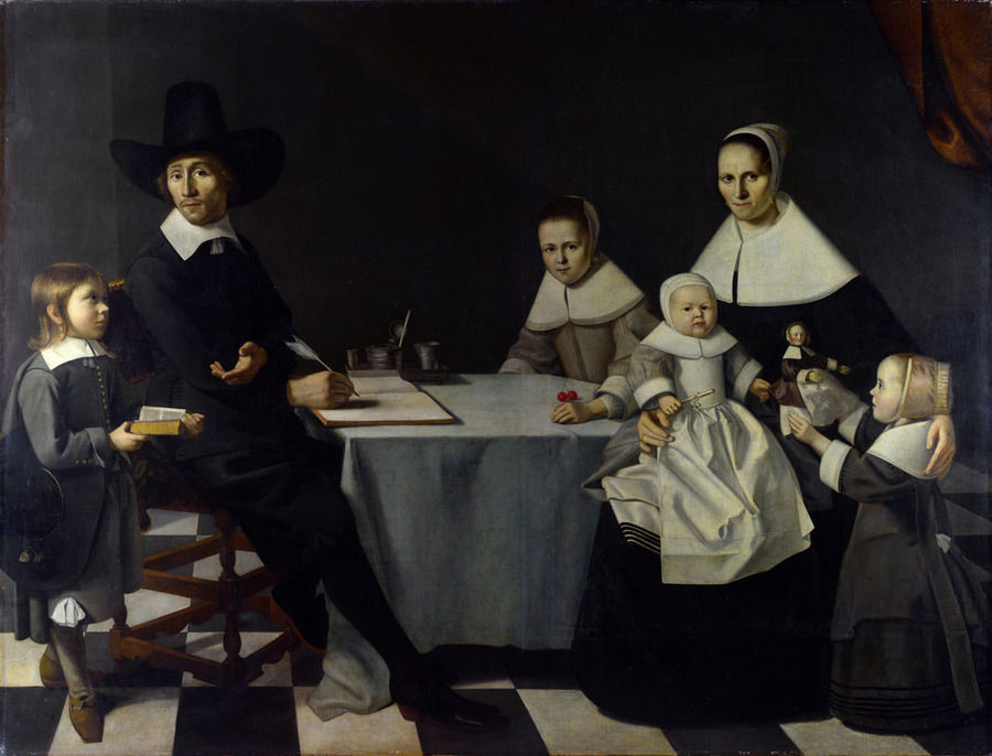 A Family Group by Michael Nouts, 1656?, National Gallery, London