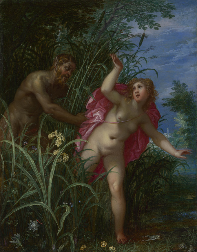 Pan Pursuing Syrinx by Hendrick van Balen I and follower of Jan Breughel I, 17th century, National Gallery, London