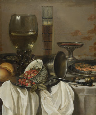 Still Life with Drinking Vessels by Pieter Claesz, 1596/7-1661, National Gallery, London