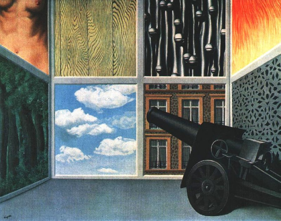 On the Threshold of Liberty by Rene Magritte, 1898-1967